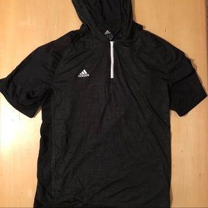 Adidas Hooded Quarter Zip Shirt